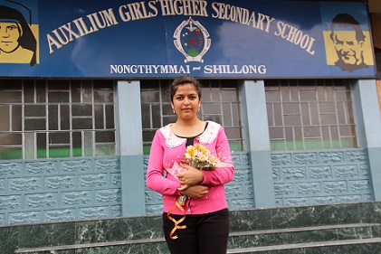 Amika K.War , a student of Auxilium Girls' Higher Secondary School Shillong,  rank first in the top ten merit list of  Higher Secondary School Leaving Certificate  Examination (Arts) results declared by Meghalaya Board of School Education on Monday.- Pix by WT Lytan