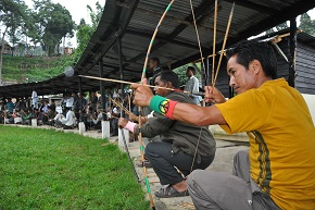 File pix: Archery one of the most popular traditional game of Meghalaya