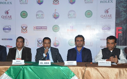 Members who are behind the first professional gold tournament in Meghalaya during a media conference on Tuesday