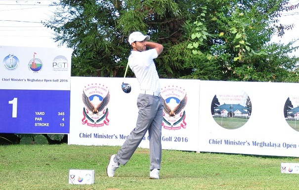 Amardip Sinh Malik in top position in the second round of the Chief Minister's Meghalaya Open Golf 2016