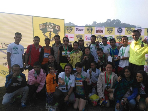 Group photo: State runners who brought laurel to the state during the great north eastern run held in Guwahati