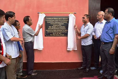 Chief Minister  Dr Mukul Sangma inaugurates Windham Tribal Boy's Hostel at Harding Theological College campus, Edenbari, West Garo Hills on 13 Sep.......